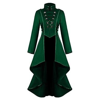 calidad de marca comprar lo mejor vívido y de gran estilo QIMANZI Uniform Abrigo para Mujer, botón, Moda Steampunk año ...