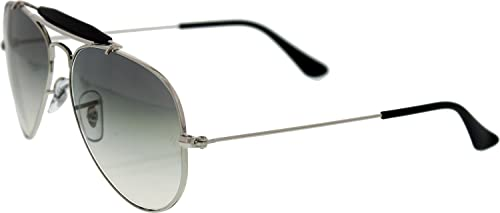 374dedcfab0 Ray-Ban Men s Gradient Outdoorsman RB3407-003 32-55 Silver Aviator  Sunglasses