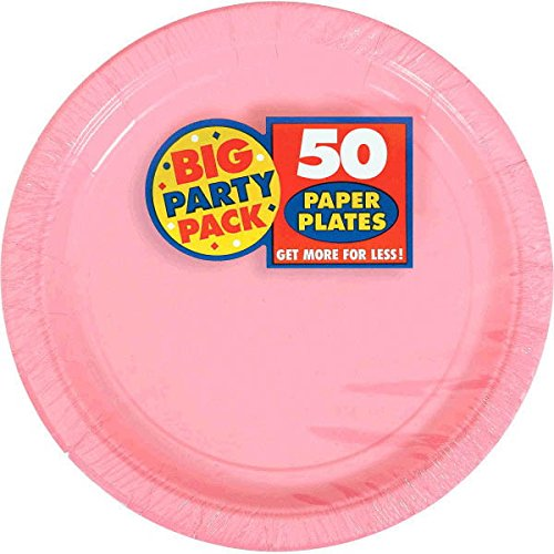 6 Pk TradeMart Inc Amscan New Pink Paper Plate Big Party Pack 650013.10900000005