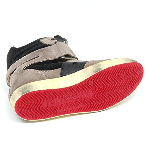 Kvinde Taupe Sneaker Sort Sko D2518 Ishikawa Isad Kvinde Sort Sort Taupe Sko Taupe qZ8U6