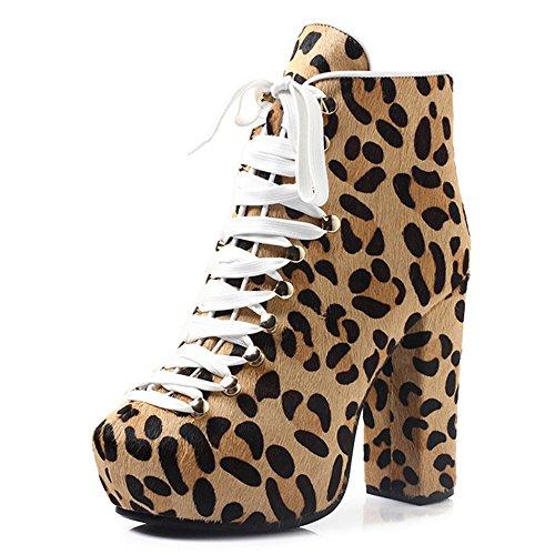 Nine Seven - plataforma mujer leopard-horse hair