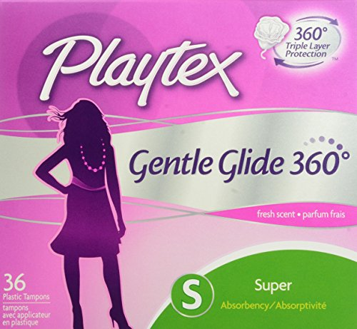 Playtex Gentle Glide Super Absorbency Tampons, Fresh Scent, 36 count