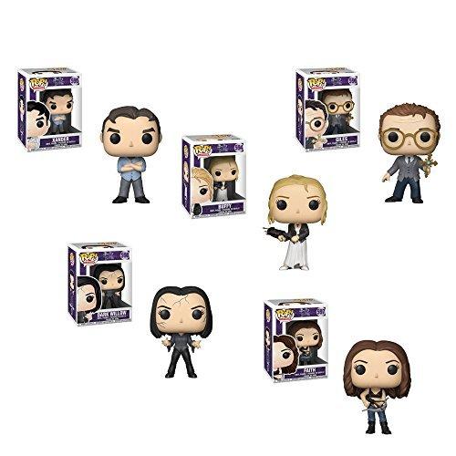 Funko Pop! Television Buffy the Vampire 20th Anniversary Set of 5 - Buffy, Xander, Giles, Faith and Dark ()