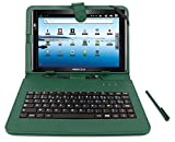 DURAGADGET FRENCH AZERTY Green Stand Case With Micro USB Keyboard Compatible With Archos 97 Titanium HD, Archos Arnova 10c G3 10G3, Archos Arnova 101 G4 Tablet, Arnova 10b G3 & 10c G3 Tablet-PC