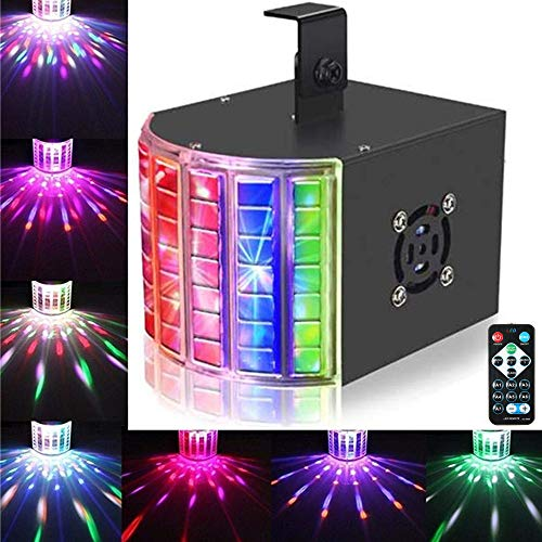 DJ Lights, SOLMORE18W DMX512 RGB LED Party Lights Sound Actived Disco Lights for Stage Lighting Wedding Birthday Karaoke Show Color Changing AC110-240V (with Remote)