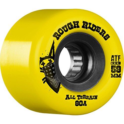 適格多くの危険がある状況スクレーパーBones Wheels ATF Rough Rider 59 mm 80 aイエロー/ブラックSkateboard Wheels ( Set of 4 )