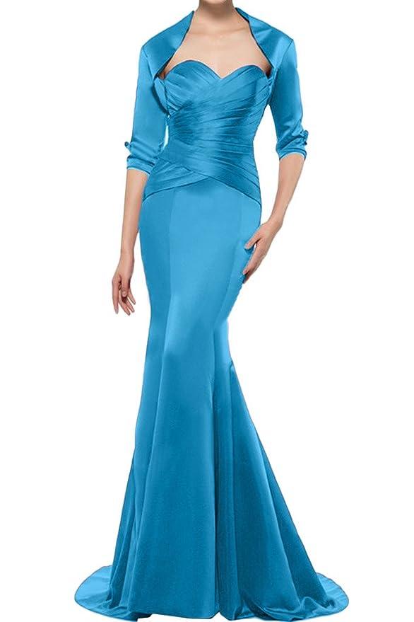 Missdressy Damen Schick Satin Lang Meerjungfrau Schleppe Hezform Falten  Bolero Herzform Mutterskleid Festkleid Abendkleid Partykleid: Amazon.de:  Bekleidung