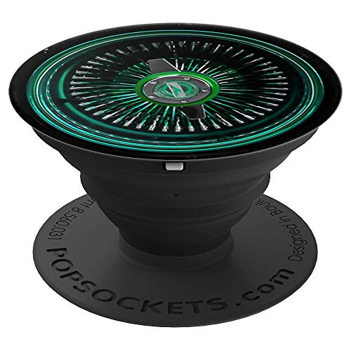 - Lowrider Wire Wheel Phone Grip Green spoke - PopSockets Grip and Stand for Phones and Tablets