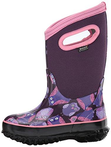 Bogs Baby Classic Owl Snow Boot, Purple/Multi, 10 M US Toddler