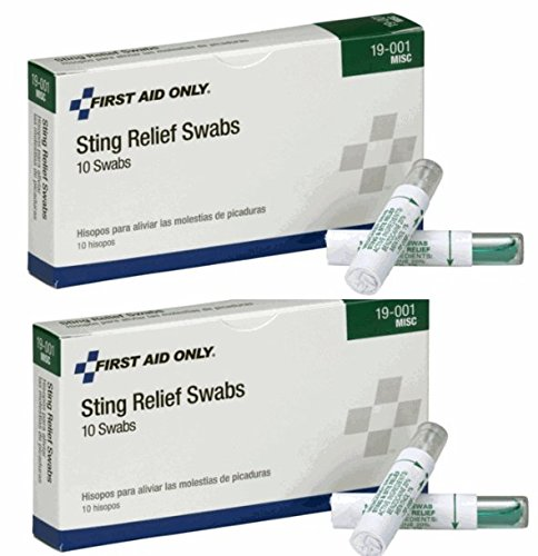 (First Aid Only Insect and Bee Sting and Bite Pain Relief Swabs (2 Boxes of 10))