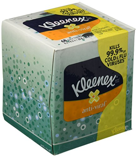 Crew Tissue (Kimberly-Clark Professional 21286 Kleenex Anti-Viral Facial Tissue Cube, Pack of 3)
