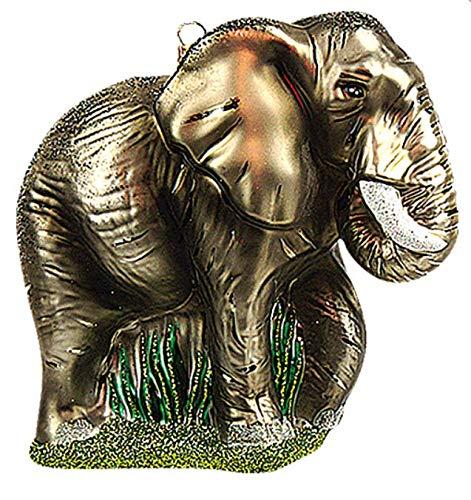African Elephant Polish Glass Christmas Ornament Animal