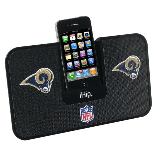(iHip Official NFL - ST LOUIS RAMS - Portable iDock Stereo Speaker with Wireless Remote NFV5000STR )