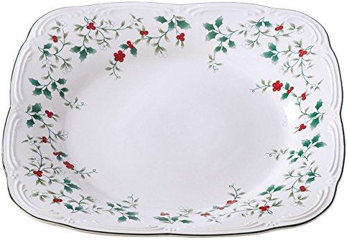 Pfaltzgraff 5181427 Winterberry Square Platter Dinnerware Set, 12.5