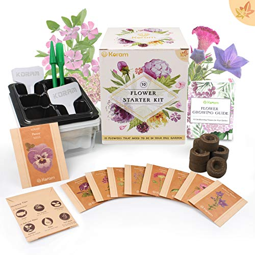 KORAM Flower Starter Kits Home Garden Kit