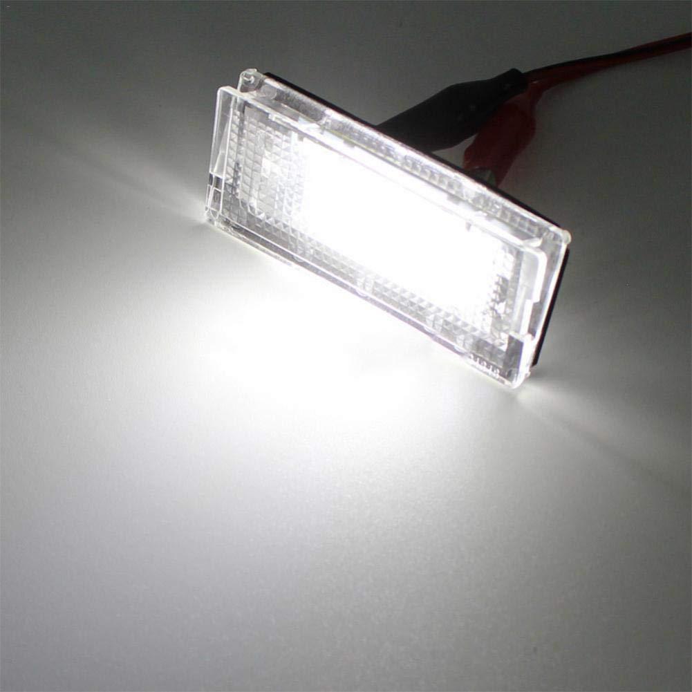L/â Vestmon Kennzeichenbeleuchtung Gl/ühlampen LED Kennzeichenleuchten hinten 3528 SMD 6000K kaltwei/ß f/ür 99-05 BMW 3er E46 4-t/ürer Limousine