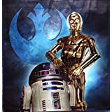 """Star Wars Reusable Grocery Bag Totes ~ 13"""" X 13"""" (R2D2 & C3PO)"""