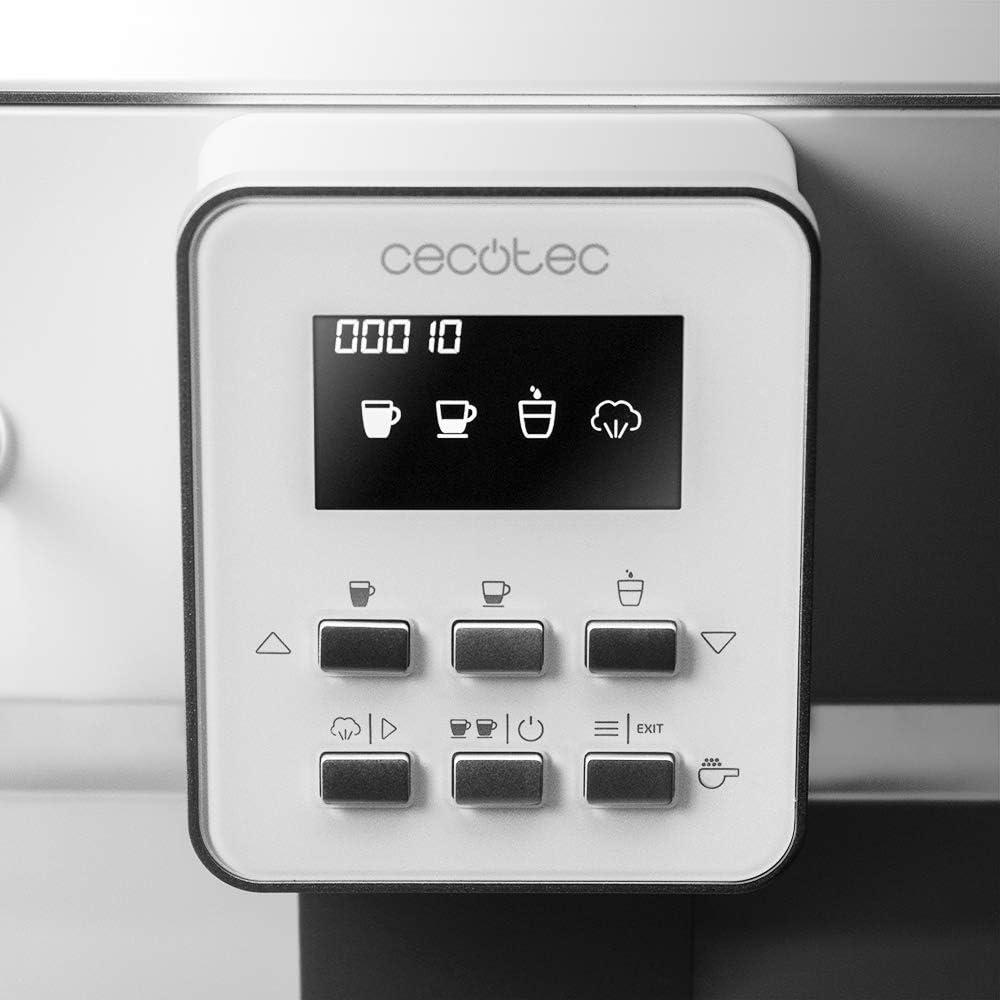 Cecotec cafetera megautomática Power Matic-ccino 6000 Serie Bianca ...