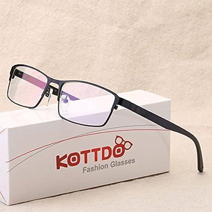 28a156ee11e BuyWorld KOTTDO Retro Reading Eyeglasses Men Fashion Myopia Glasses  Spectacle Frames for Male Computer Glasses Frames Metal Eye Glasses   Amazon.in  Home   ...