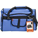 Prefer Pets Travel Gear Privacy Carrier, 17 x 12 x 10'', Blue