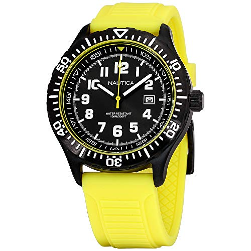 - Nautica NSR 105 Black Dial Silicone Strap Men's Watch NAD13527G