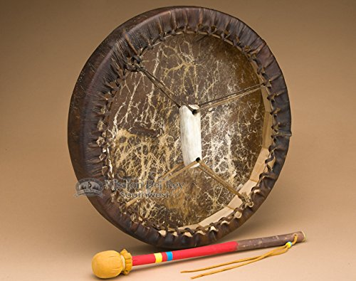 Premium Buffalo Frame Drum & Beater 16'' Tohlakai