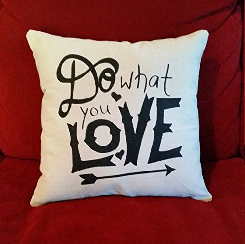 Do What you Love | New Job Gift | Inspirational Gifts for Women | Motivational Gifts | Decorative Throw Pillow Cover | Typography - Tory Returns Burch