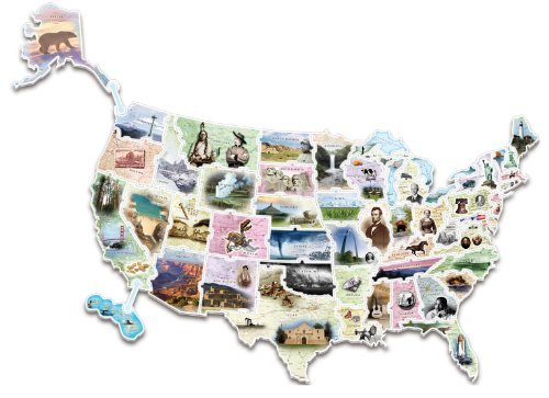 WonderFoam Giant USA Photo Map Puzzle (AC4475) by Chenille Kraft (Chenille Puzzle Kraft)