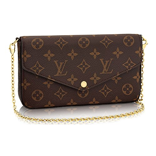(Louis Vuitton Monogram Canvas Pochette Felicie Wallets Handbag Clutch Article:M61276)