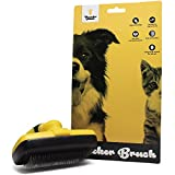 Thunderpaws Self Cleaning Pet Slicker Brush - Gently Remove Knots, Tangles and Loose Undercoat From Dogs and Cats - Easy To Use With Ergonomic Design