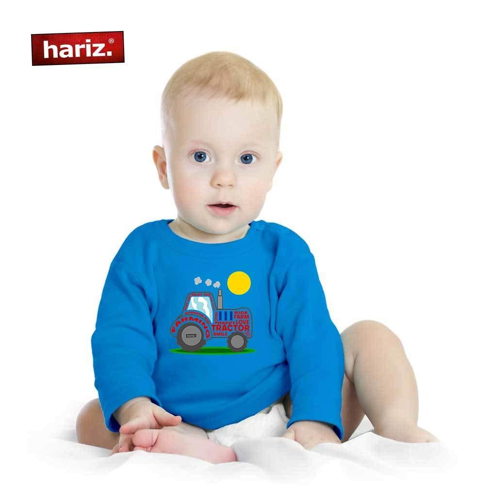 HARIZ Baby Pullover Rennwagen Ich Hab Einen Traktor Bagger Eisenbahn Plus Geschenkkarte Bleistift Grau 6-12 Monate