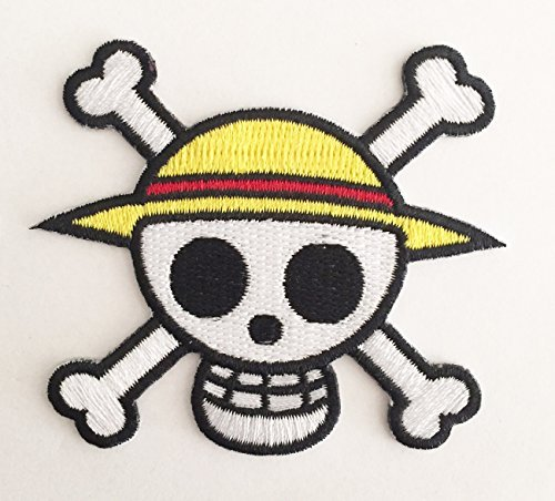 One Piece Straw Hat Pirates Skull Symbol Patch Nerdy Cool Dad