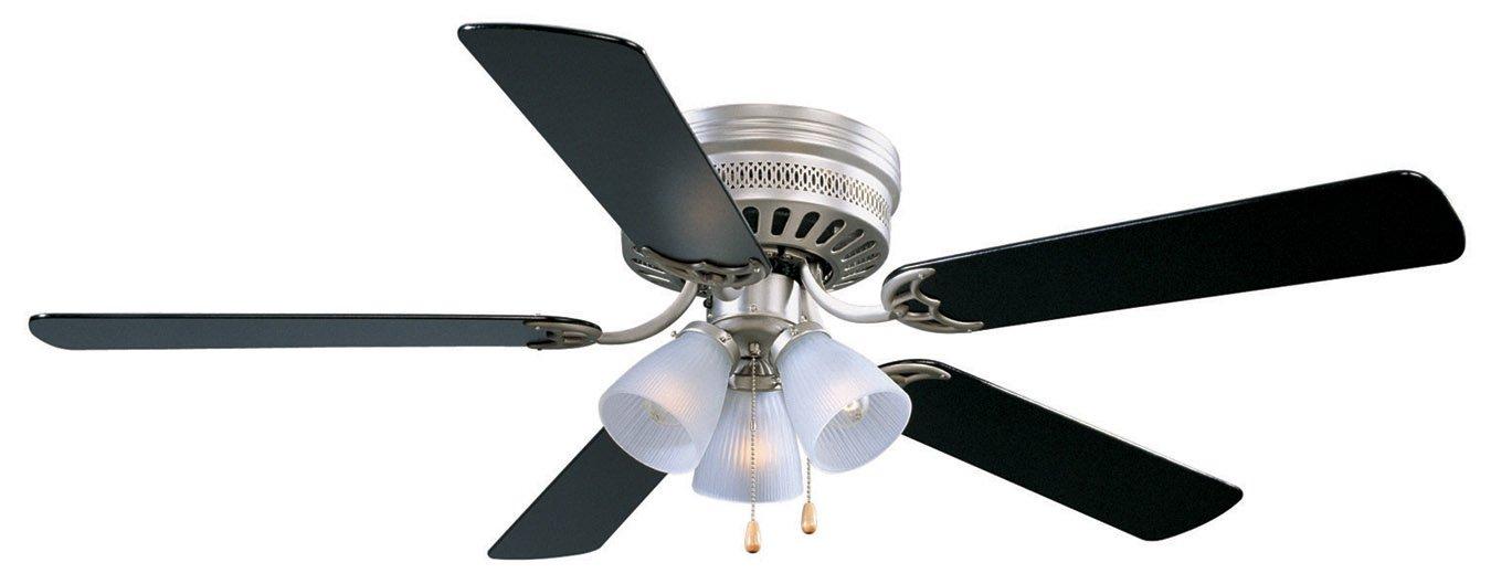 Design house 156018 millbridge 3 light ceiling fan 52 satin nickel black ceiling fan amazon com