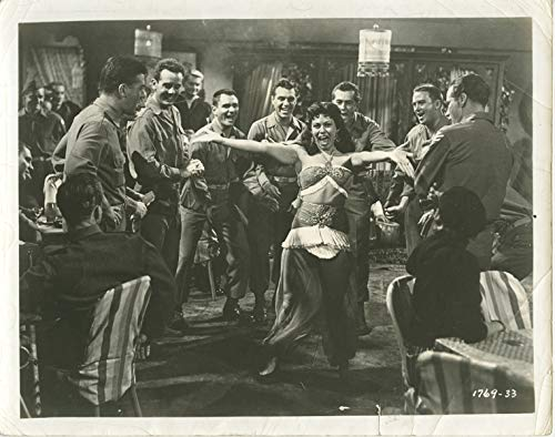 Back Photo Movie (TO HELL AND BACK Original 1955 Photo AUDIE MURPHY War Movie girl dancing in bar)
