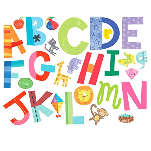 Wallies Wall Stickers - Wallies Wall Decals, Alphabet Fun Wall Stickers, Includes 26 Letters