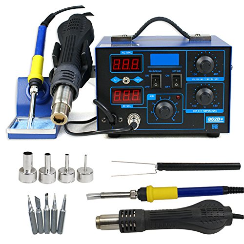Why Choose F2C 2in1 862d+ SMD Soldering Iron Welder Hot Air Gun Rework Station LED Display W/4 Nozzl...