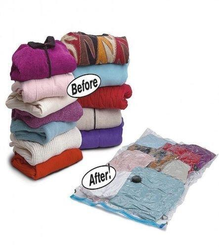 Saver Bag Large Jumbo Vacuum Storage Space Saving Bags Vac Bag Clothes Bedding (Small: 60x80cm (2 Bags))