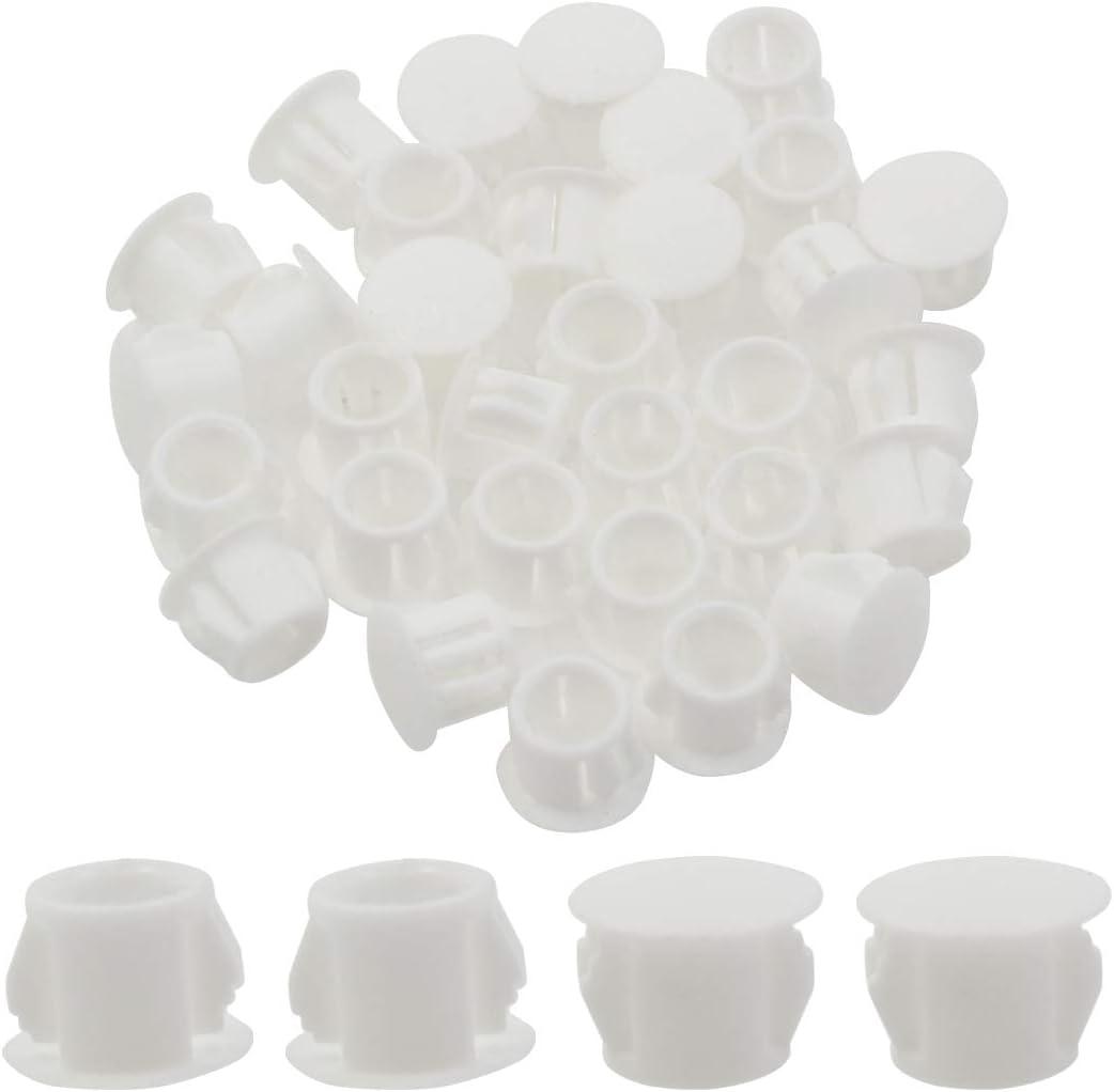 Zorfeter 30 Pcs White Hole Plugs 10mm (3/8 inch) Plastic Panel Plugs Hole Plugs Post Pipe Insert End Caps