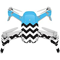 Skin For Yuneec Breeze 4K Drone – Baby Blue Chevron   MightySkins Protective, Durable, and Unique Vinyl Decal wrap cover   Easy To Apply, Remove, and Change Styles   Made in the USA