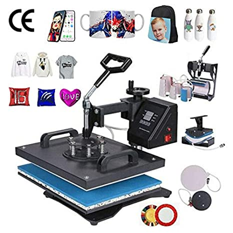 La prensa del calor de la máquina, 8 en 1 Combo prensa del calor de la