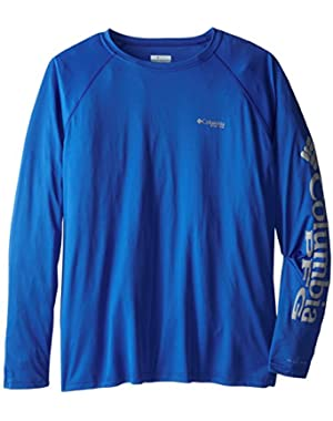 Sportswear Men's Terminal Tackle Long Sleeve Shirt, Vivid Blue/Cool Grey Logo, 2X