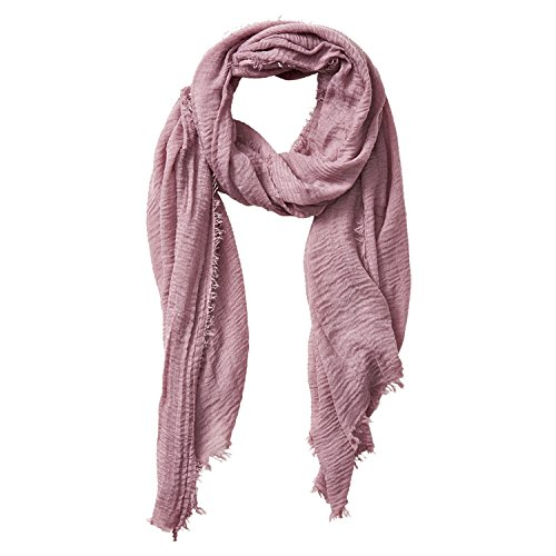 (Tickled Pink Classic Soft Solid Stylish Long Lightweight Pashmina-Like Cotton Blend Scarf 38 x 70