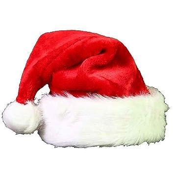 DYEWD Gorro de Navidad de Felpa Gruesa para niños Adultos de Gama Alta 0da82480e8e