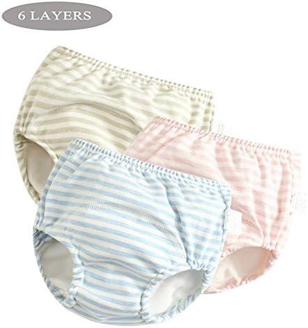 Pantalones de entrenamiento de algodón Ropa interior Niños niñas impermeables, Ropa de bebé pañales de tela de pañales Cambio de pañales, Pantalones de aprendizaje orinal, Transpirable, Paquete de 5: Amazon.es: Bebé