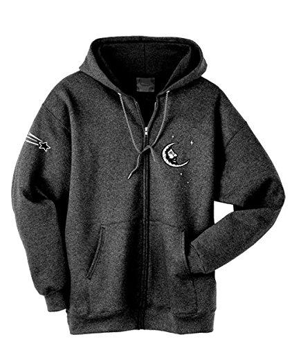 (Blue Mountain Dyes LLC Grateful Dead Hooded Sweatshirt Jerry Moon Zip Up Hoodie (XXX-Large))