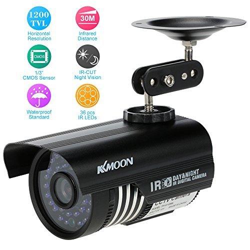 "KKmoon 1/3"" 1200TVL 3.6mm len 36 Led Had IR Cut 100 Feet Night Vision outdoor Security Camera"