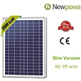 20w Watts Newpowa High Quality 12v Poly Solar Panel Module Rv Marine Boat Off Grid