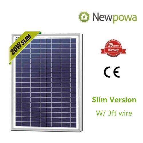 Solar Module (Newpowa 20w Watts 12v Poly Solar Panel Module Rv Marine Boat Off Grid)