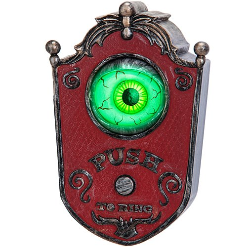 Light-Up Talking Eyeball Doorbell - Haunted House Halloween