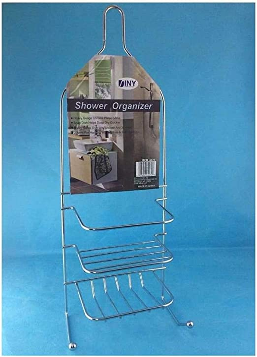 Salle de bain chrome suspendu douche Caddy 3 grands paniers aucune rouille Tidy Organisateur *
